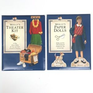 American Girl Molly Paper Dolls Theater Kit Set